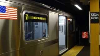 42nd Street - Times Square Bound Train Of R188s 7833-7843 On The 7 @ Flushing - Main Street