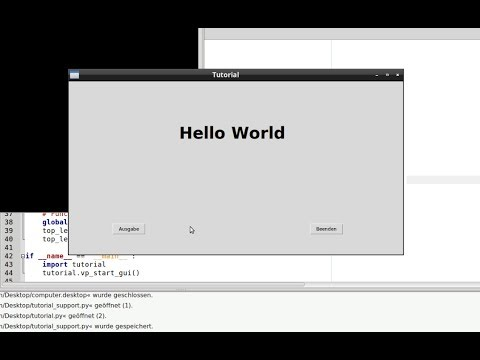 Python GUI-Builder PAGE