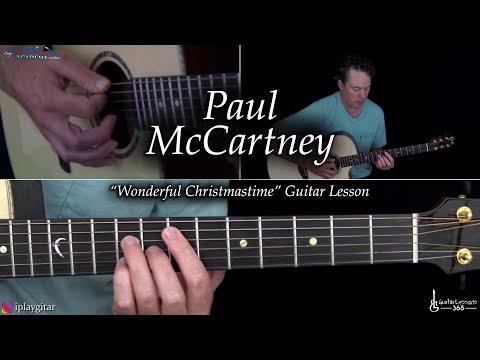 Wonderful Christmastime Guitar Lesson - Paul McCartney
