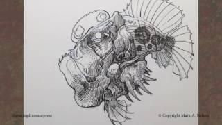 Nib and Ink: Quick Fish Drawing