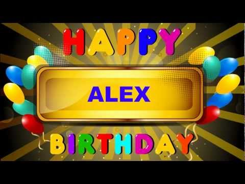 Alex - Card Tarjeta - Happy Birthday