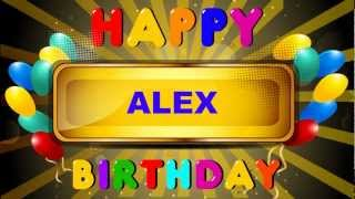 Alex - Card Tarjeta - Happy Birthday