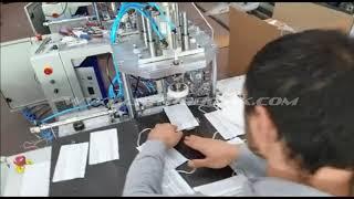 Yarı Otomatik Ultrasonik Maske Lastik Yapıştırma Makinesi