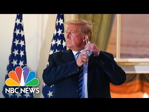 president-trump-returns-to-white-house,-takes-off-mask-for-photos-|-nbc-news