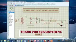 How to use Proteus Software to draw schematic diagrams. ||DC Power Supply.