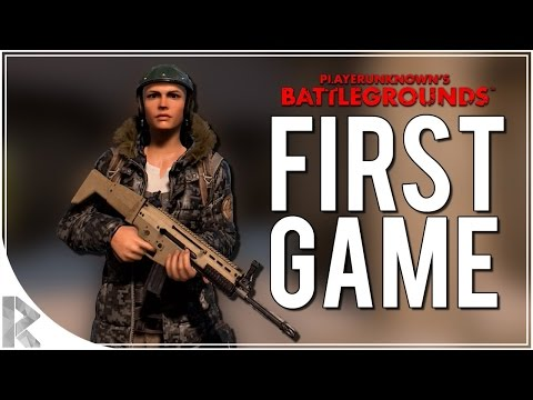My first PLAYERUNKNOWN'S BATTLEGROUNDS game! |