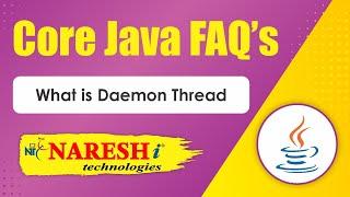 What is Daemon Thread Core Java Interview Questions Mr Srinivas