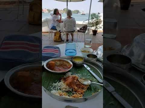 Hotel Boatyard Patio Lunch Kochi Kerala India January 2020 2