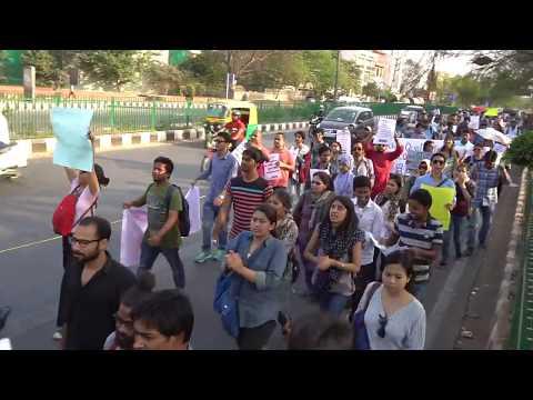 JNUTA-JNUSU Historic March -- From Ganga Dhaba to Parliament