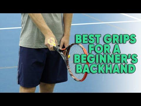 Best Grips For A Beginner's Backhand - Tennis Lesson