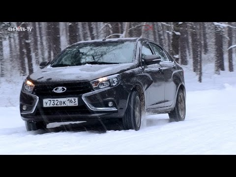 LADA Vesta's wintery test drive Part 1. English version