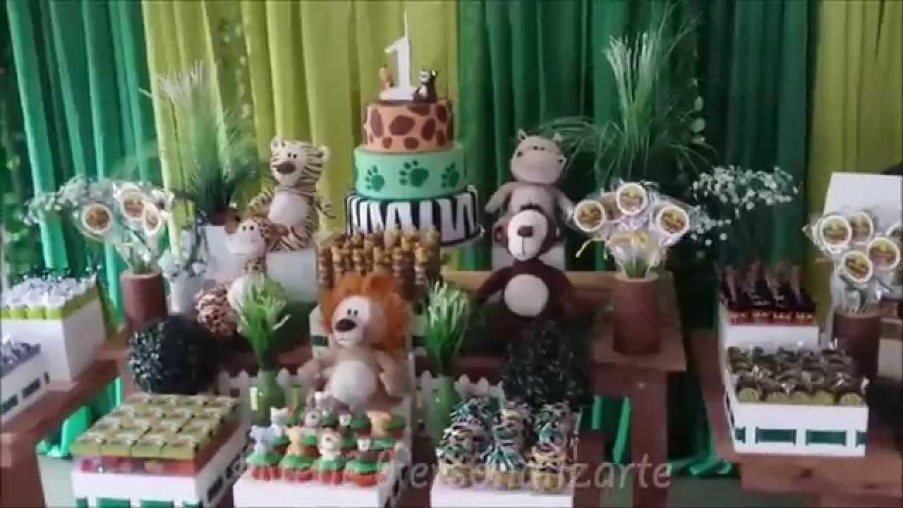 Decoraç u00e3o de festa infantil Safári Rústico YouTube -> Decoração Festa Infantil Zoologico
