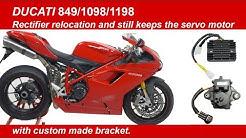 Ducati 848/1098/1198 Rectifier Relocation With Servo Motor In Place - Custom Bracket