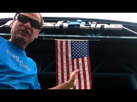 FlagDesk.com | How To Hang An American Flag | Finish Line, Indianapolis, IN