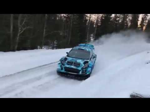 Sebastien Ogier tests M Sport's 2017 Ford Fiesta in Sweden