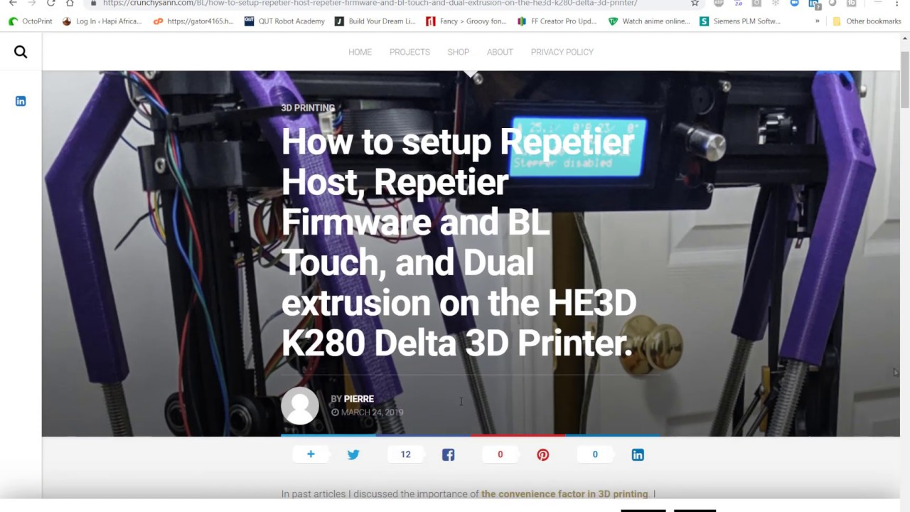 How to setup Repetier Host, Repetier Firmware and BL Touch