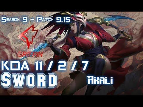 GRF Sword AKALI vs LULU Top - Patch 9 15 KR Ranked