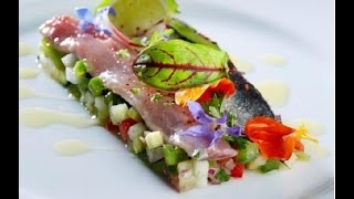 Ceviche de sardines Pavillon France par Christian Etchebest