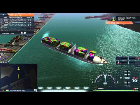 TransOcean TSC - New Panamax Ship Maneuvering Gameplay HD