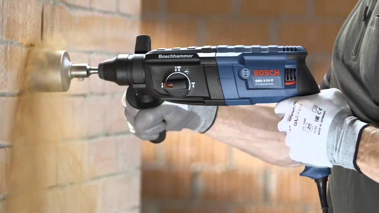 bosch gbh 2 24 d professional sds plus rotary hammer drill youtube. Black Bedroom Furniture Sets. Home Design Ideas