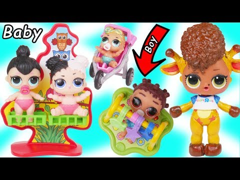 LOL Surprise Doll Toys R Us Custom Opens Toy Store for Fresh New Lil Brother Punk Boi Boy Surprises