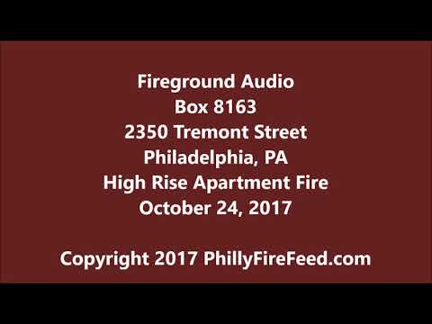 10-24-17, 2350 Tremont St, Philadelphia, PA, High Rise Apartment Fire