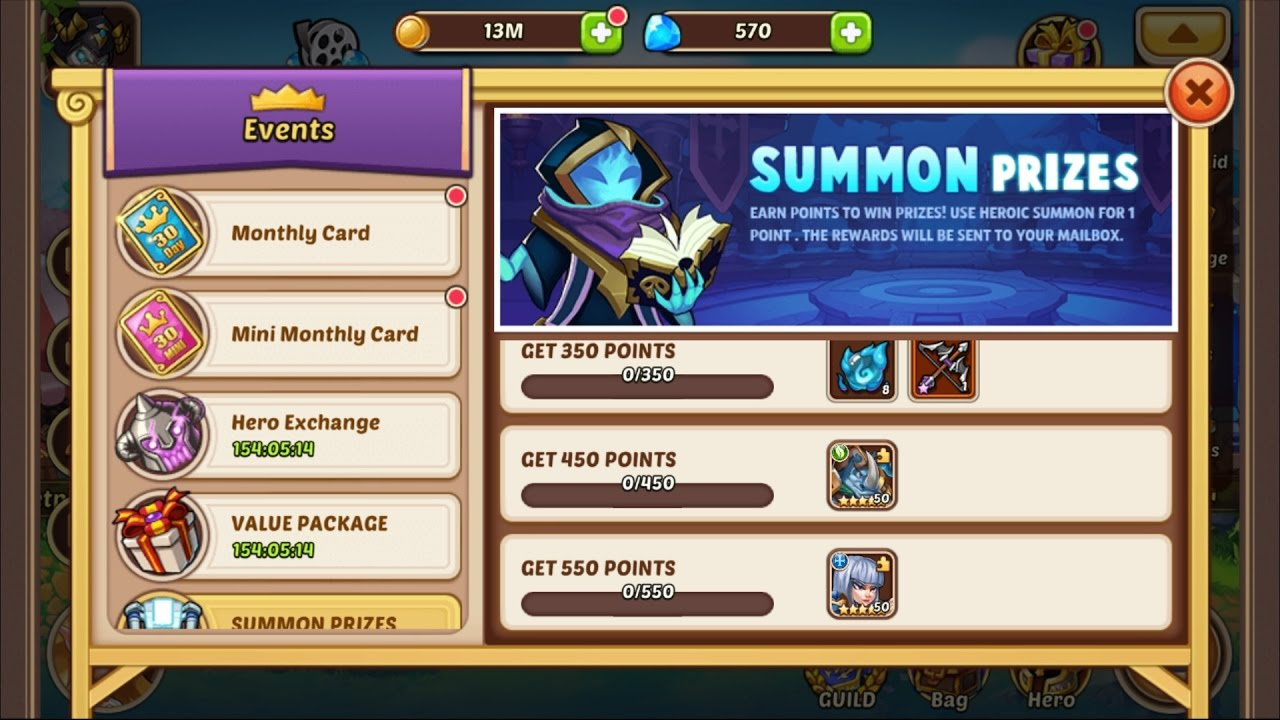 idle heroes casino rewards