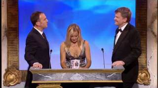 Lucy Davis and Adrian Chiles at the British Comedy Awards