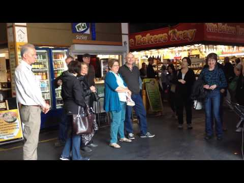 Busking in Adelaide Central Market - Greg Suri - John Denver Cover