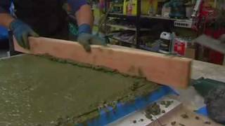 How To Make Concrete Countertops with Fu-Tung Cheng