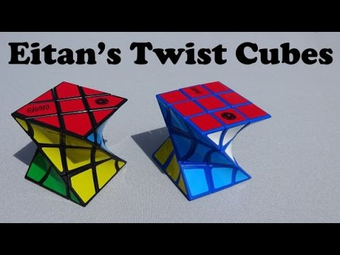 Eitan's Twist & Eitan's Fisher Twist Cube puzzles unboxing (includes a solve)