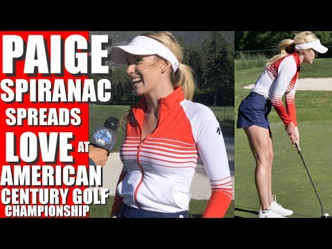 HOT! PAIGE SPIRANAC INTERVIEW at 2017 AMERICAN CENTURY CHAMPIONSHIP IN TAHOE - GOLF