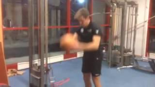 Calle Halfvarsson gym session 2