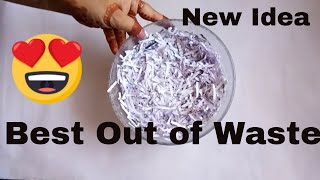 Best Out Of Waste New Craft Idea | Art And Craft | Amazing craft Idea | New Idea using waste Paper