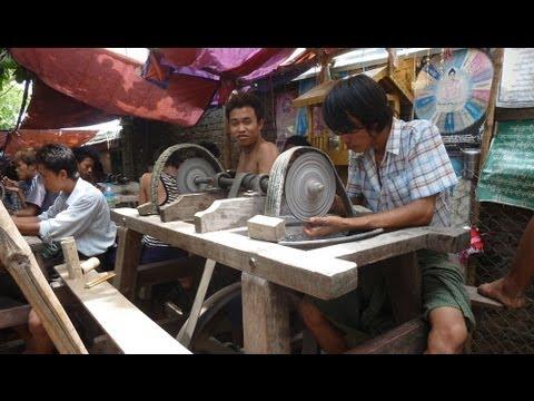 Myanmar ( Burma ) 2013, Mandalay, Jade - Market & Jade - Process, Shan State !