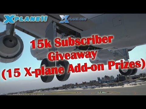 [X-plane 11] 15k Subs Giveaway - 15 Prizes (see videodescription)