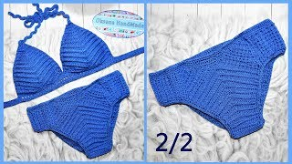 Купальник крючком. 2/2 мастер класс. Crochet swimsuit