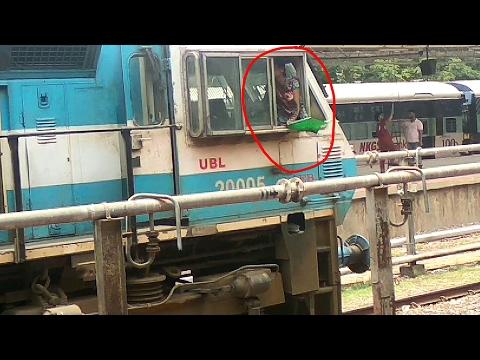 RARE: Lady Loco Pilot of Indian Railways Shunting at Madgaon