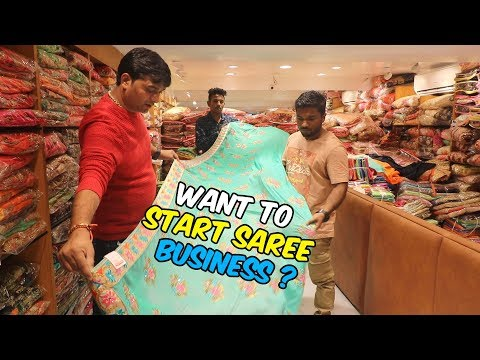 Surat Saree Factory For Wholesale Business | Latest Saree Collection Of 2019 | VLOG²
