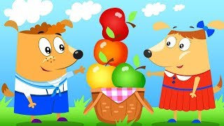 Dog family | Picnic in nature | Cartoons for kids