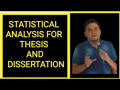 Statistical Analysis for Thesis and Dissertation