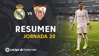 Resumen de Real Madrid vs Sevilla FC (2-1)