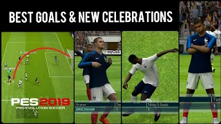 Best Goals & New Celebrations in PES 19 Mobile