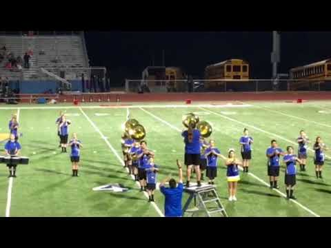 Lago Vista High School Band Vikings vs Brady halftime performance part one