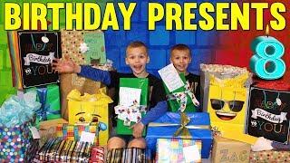 Twins 8th Birthday Presents Haul!