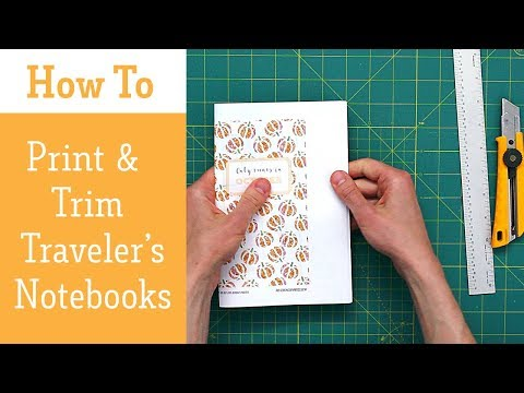 How To Print and Cut Traveler's Notebooks (The Easy Way)