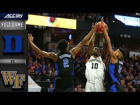 Duke vs Wake Forest Full Game | 2018-19 ACC Basketball