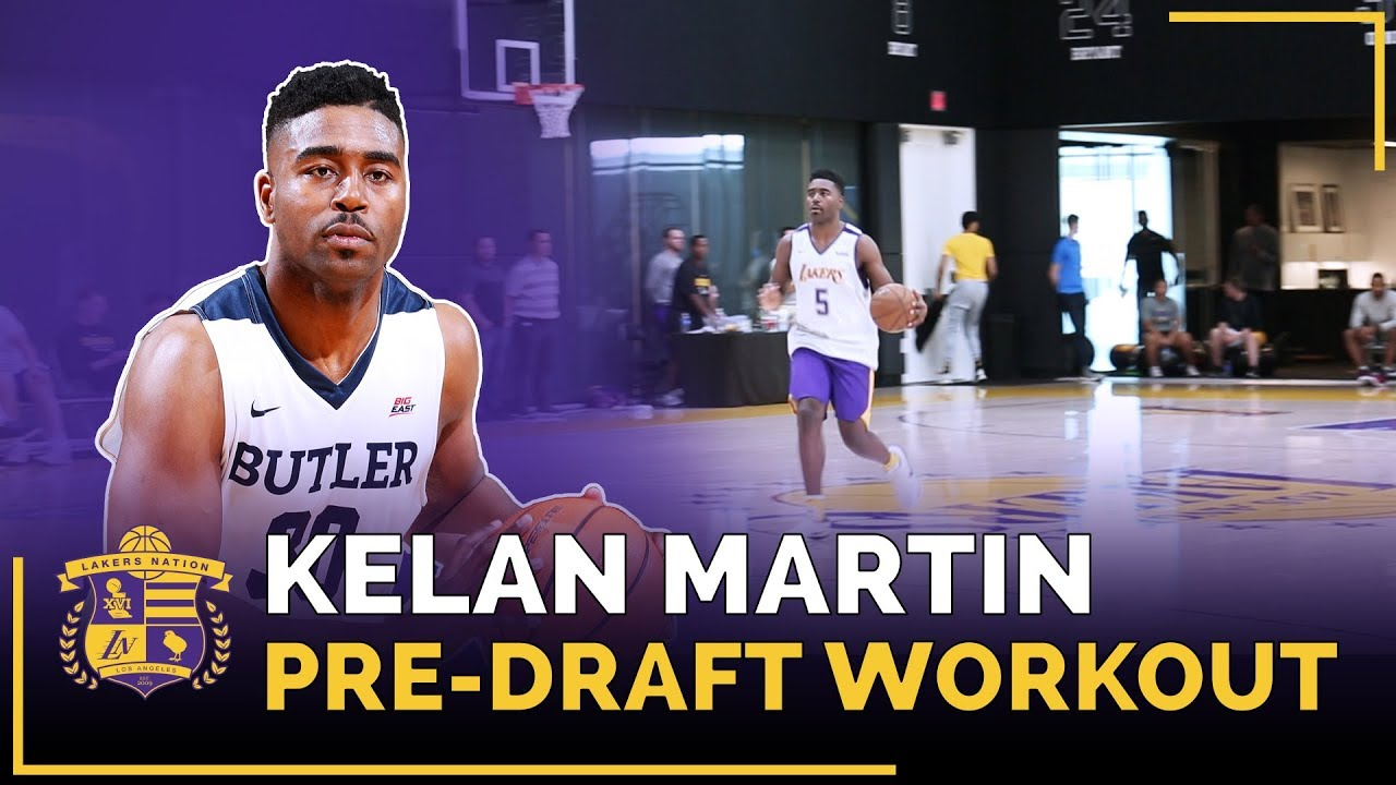 Lakers Pre-Draft Workout: Butler Forward Kelan Martin (Lakers Mentality Drill)