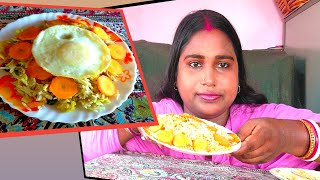 mukbank. eating 2plate rice 🍚🍚 🌾 challenge //🥚🥚🥚 egg rice 🍚 and mix fried rice