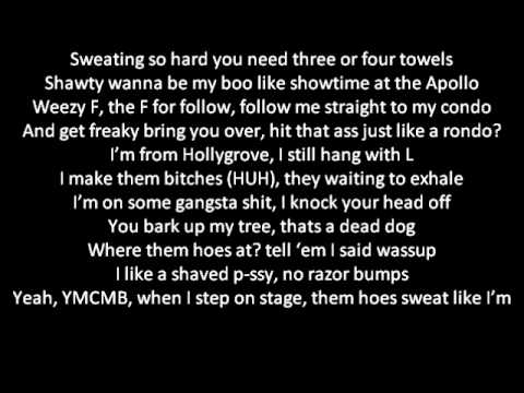 Bow Wow ft Lil Wayne- Sweat (Lyrics) New 2011